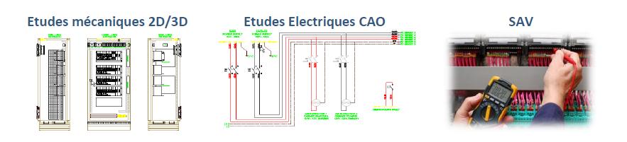 etude electrique cao mecanique 2d 3d